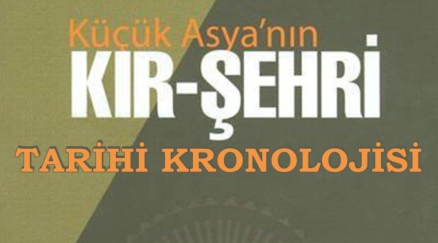 Kırşehir Tarihi Kronolojisi