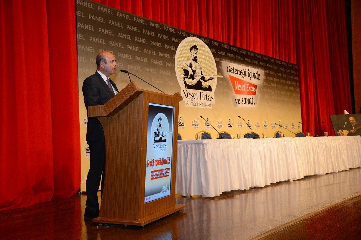 """25 Eylül 2019 -Kırşehir Belediyesinin düzenlediği; """"Geleneği İçinde Neşet Ertaş Ve Sanatı"""" Konulu Panel"""